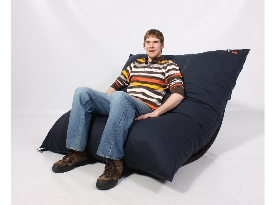LoveSac PillowSac Navy Foam Lounge Bag Chair