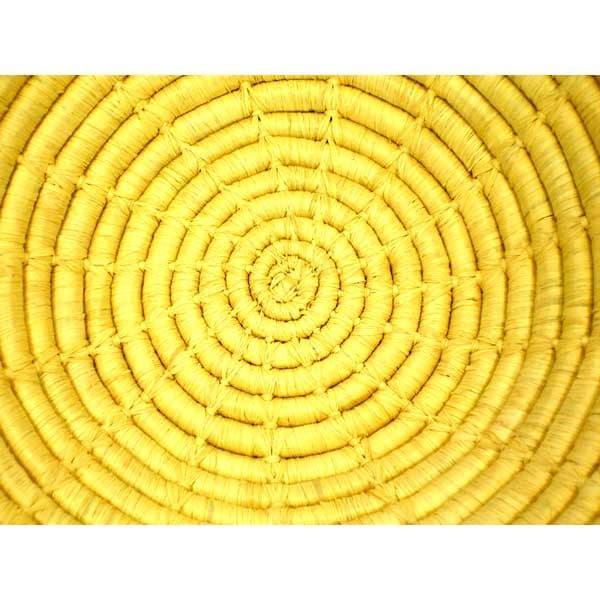 Natural-colored Spokes-design Coil Basket (Uganda)