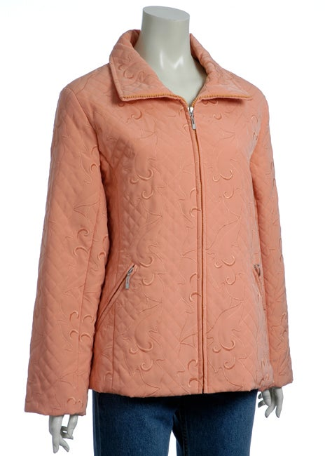 Regent Women's Faux Silk Quilted Jacket