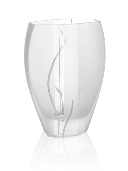 'Wind and Grass' Wide Billowed Vase