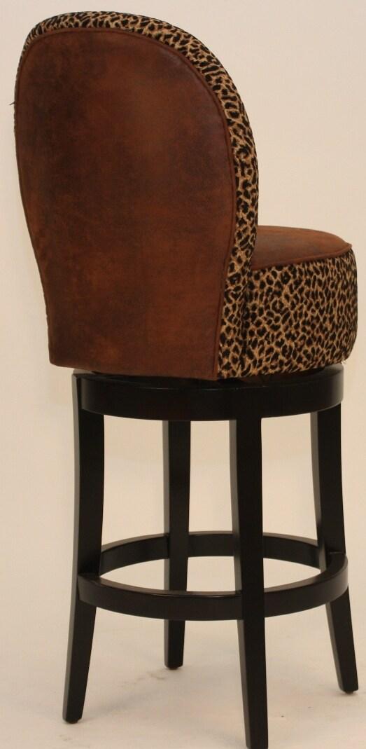 Nova Leopard Print Swivel Stool 12009299 Overstock Com