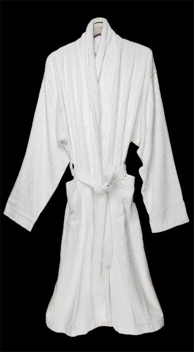 White Rayon from Bamboo Bath Robe