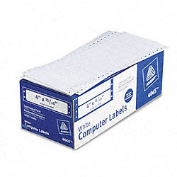 Avery Dot Matrix Printer White Self-Adhesive Addressing Labels - 5000/Box