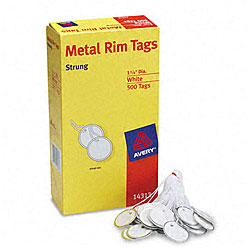 Avery Metal Rim White Marking Tags - 500/Box