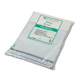 Recycled Jumbo Tear-Resistant Plain White Poly Mailers - 100/Pack