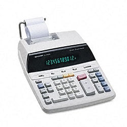Sharp EL2192RII 2-color Roller Printing Calculator