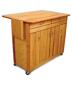 Catskill Craftsmen Super Island Drop Leaf Kitchen Cart | Overstock