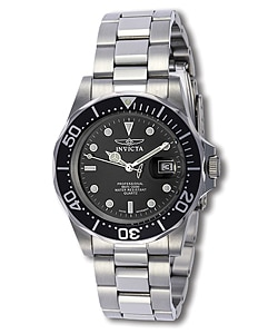 Invicta Men's Steel Black Dial Watch