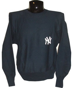 Yankees Game Used Navy Blue Sweatshirt