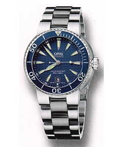 Oris Diver Men's Stainless Steel Blue Dial Watch