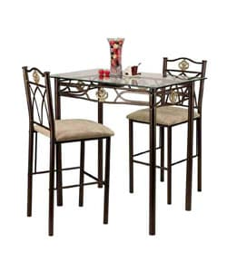 Glass-top Crown Bistro Set