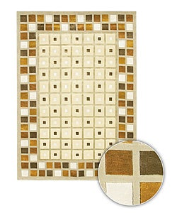 Hand-knotted Aura Contemporary Wool Rug (8' x 11')