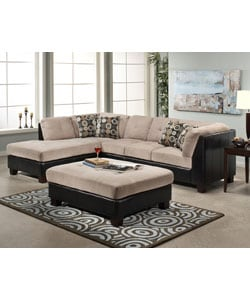 Elite Sectional Sofa and Large Ottoman