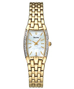 Bulova Goldtone Diamond Women's Quartz Watch