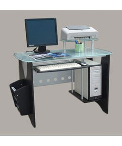 Glass-top CPU Workstation Desk