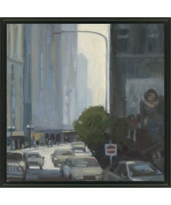 Kim Coulter 'Downtown II' Framed Canvas Art