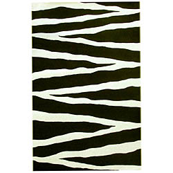 Hand-tufted Zebra Stripe Wool Rug (5' x 8')