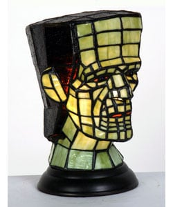 Tiffany-style Frankenstein's Monster Accent Lamp