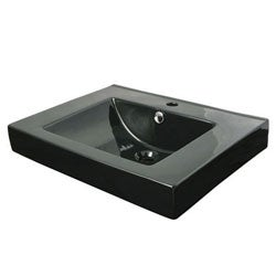 Mission Black Wall Mount Bathroom Sink