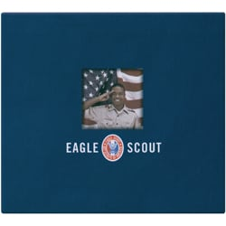 Postbound Eagle Scout Top-loading Navy-blue Fabric Scrapbook Album