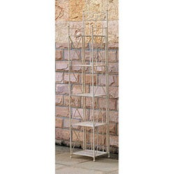 Narrow 5-tier Iron Folding Bakers Rack