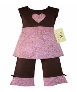 Sweet Jojo Designs 2-piece Paisley Infant Girl's Outfit
