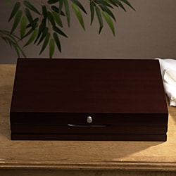 Wallace Walnut Flatware Storage Chest