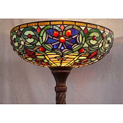 tiffany style stained glass torchiere floor lamp. Black Bedroom Furniture Sets. Home Design Ideas