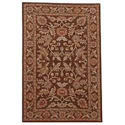 Hand-tufted Oriental Brown Wool Rug (8' x 10'6)