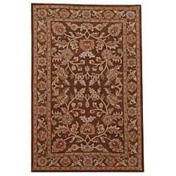 Hand-tufted Oriental Brown Wool Rug (8' x 10'6)