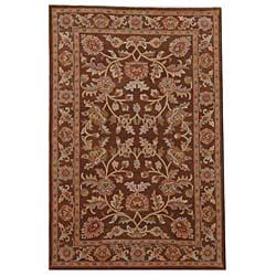 Hand-tufted Oriental Brown Wool Rug (5' x 8')