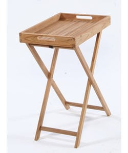 Stand with Removable Teak Tray