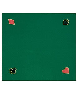 Green Felt Texas Hold 'Em Poker Game Layout