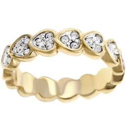Kate Bissett Goldtone Heart Shaped CZ Eternity Ring
