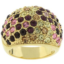 Kate Bissett Goldtone Multicolor Pave Style Cocktail Ring