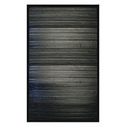 Handmade Black Bamboo Rug (8' x 10')