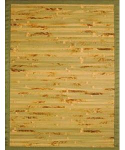 Handmade Variegated Bamboo Rug (8' x 10')