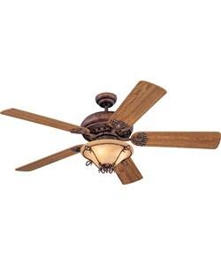Scrolls wrought iron 52 inch ceiling fan 11179220 shopping great deals on - Black iron ceiling fan ...