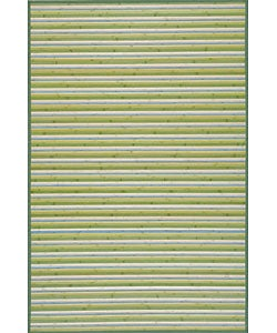 Handmade Lime Green Bamboo Runner (2'x7')