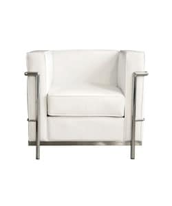 LC White Leather Chair