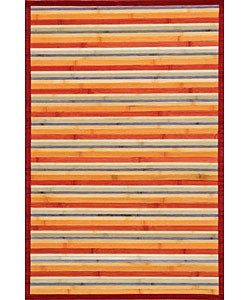 Rust Bamboo Area Rug (5&#39; x 7&#39;)