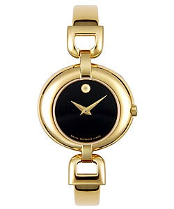 Movado Vivo Women's Black Dial Goldtone Watch