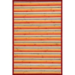Handmade Transitional Rust Bamboo Rug (8&#39; x 10&#39;)