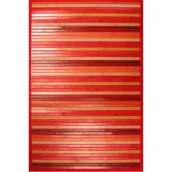 Red Bamboo Area Rug (8' x 10')