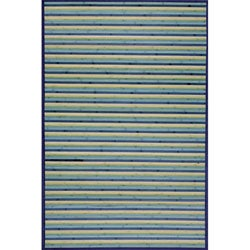 Blue Bamboo Area Rug (5' x 7')
