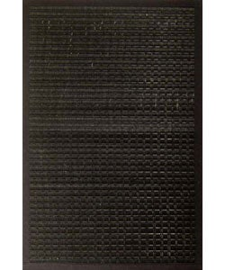 Black Woven Bamboo Rug (5&#39; x 7&#39;)