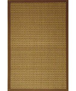 Brown Woven Bamboo Rug (4' x 6')