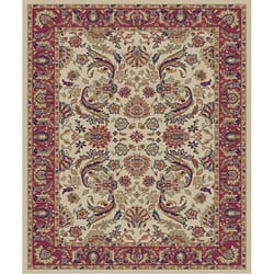 Ivory Sultanabad Rug (3&#39;11 x 5&#39;3)
