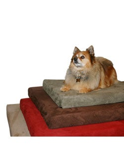 Extra-large Body Warming Memory Foam Microfiber Cover Dog Bed
