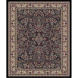 Sarouk Black Polypropylene Rug (5&#39;3 x 7&#39;3)